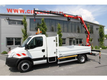 IVECO DAILY 65C18 CRANE FASSI F22A.22 5.5 m - бортовой грузовик