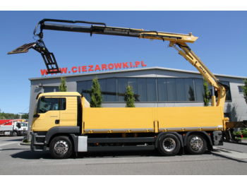 Бортовой грузовик MAN TGS 26.400 6x2 EEV CRANE ATLAS 210.2 11.1 M 3 UNITS