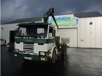 Грузовик бортовой/ платформа Scania 82M - full steel - crane
