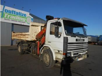 Грузовик-контейнеровоз/ сменный кузов Scania 82 - container - crane - full steel