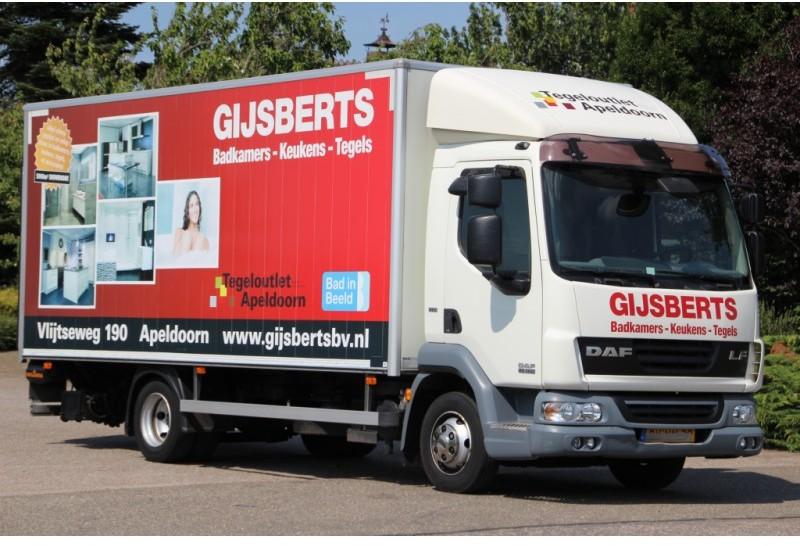 Gijsberts Apeldoorn Badkamers : Грузовик с закрытым кузовом daf lf45 160 euro5 169dkm bakwagen
