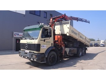 Mercedes-Benz SK 2435 (BIG AXLE / V8-ENGINE / ATLAS CRANE / BELGIAN TRUCK IN PERFECT CONDITION) - самосвал