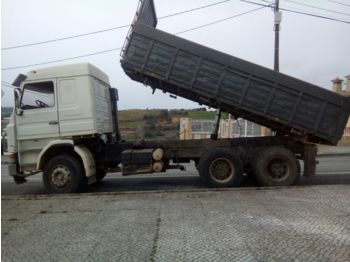 SCANIA R 143 400 V8 6X4 left hand drive 3 way volqueta tipper - самосвал