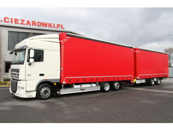 DAF DAF FLIEGL SET FAR XF105.460 E5 6x2 LD 120 m3 SpaceCab LOW SET FAR XF105.460 E5 6x2 LD 120 m3 SpaceCab LOW TPS180 MEGA TARPAULIN - тентованный грузовик