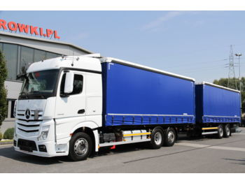 MERCEDES-BENZ MERCEDES-BENZ SET 6x2 ACTROS 2542 E6 BDF + SCHMITZ CURTAINSIDE KÖGEL SET 6x2 ACTROS 2542 E6 BDF + SCHMITZ CURTAINSIDE KÖGEL - тентованный грузовик