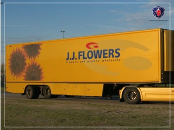 Floor 2 axle Flower trailer | Taillift | Cooling - Heating - полуприцеп