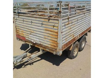 TJ TJ1400 Double Axle Trailer (Spanish Reg. Docs. Available/ Doc. Espanola Disponible) - LO01683R - D1425 - бортовой прицеп