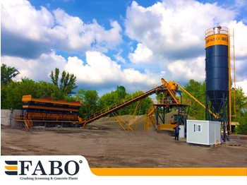 FABO 75m3/h STATIONARY CONCRETE MIXING PLANT - бетонный завод