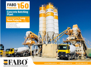 FABO POWERMIX-160 STATIONARY CONCRETE BATCHING PLANT - бетонный завод