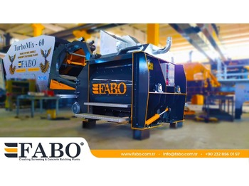 FABO TWIN SHAFT CONCRETE MIXER - бетонный завод
