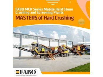 FABO MCK-110 MOBILE CRUSHING & SCREENING PLANT | JAW+SECONDARY - дробилка