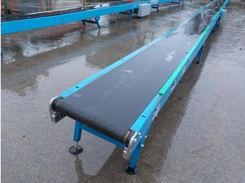 Coveya 14m 240Volt Conveyor, 400mm Wide, Control Box, Adjustable Feet - грохот